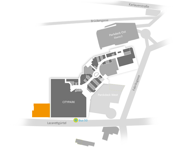 Lageplan Elithera Graz Citypark