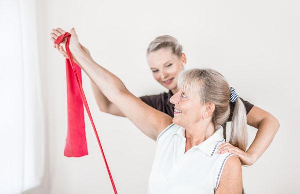 physiotherapie-übung