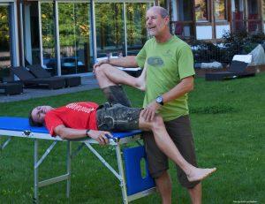 Physiotherapie und Dehnen